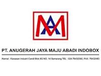 Lowongan Kerja Semarang Operator Mesin Flexo Dan Helper Di Pt. Anugerah Jaya Maju Abadi Indobox