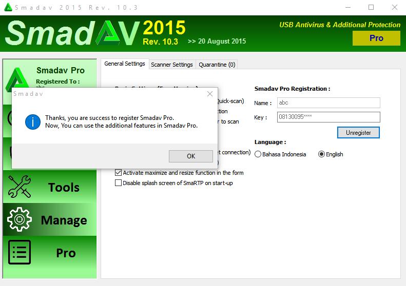 SmadAV Antivirus Pro Latest Full Version For Windows