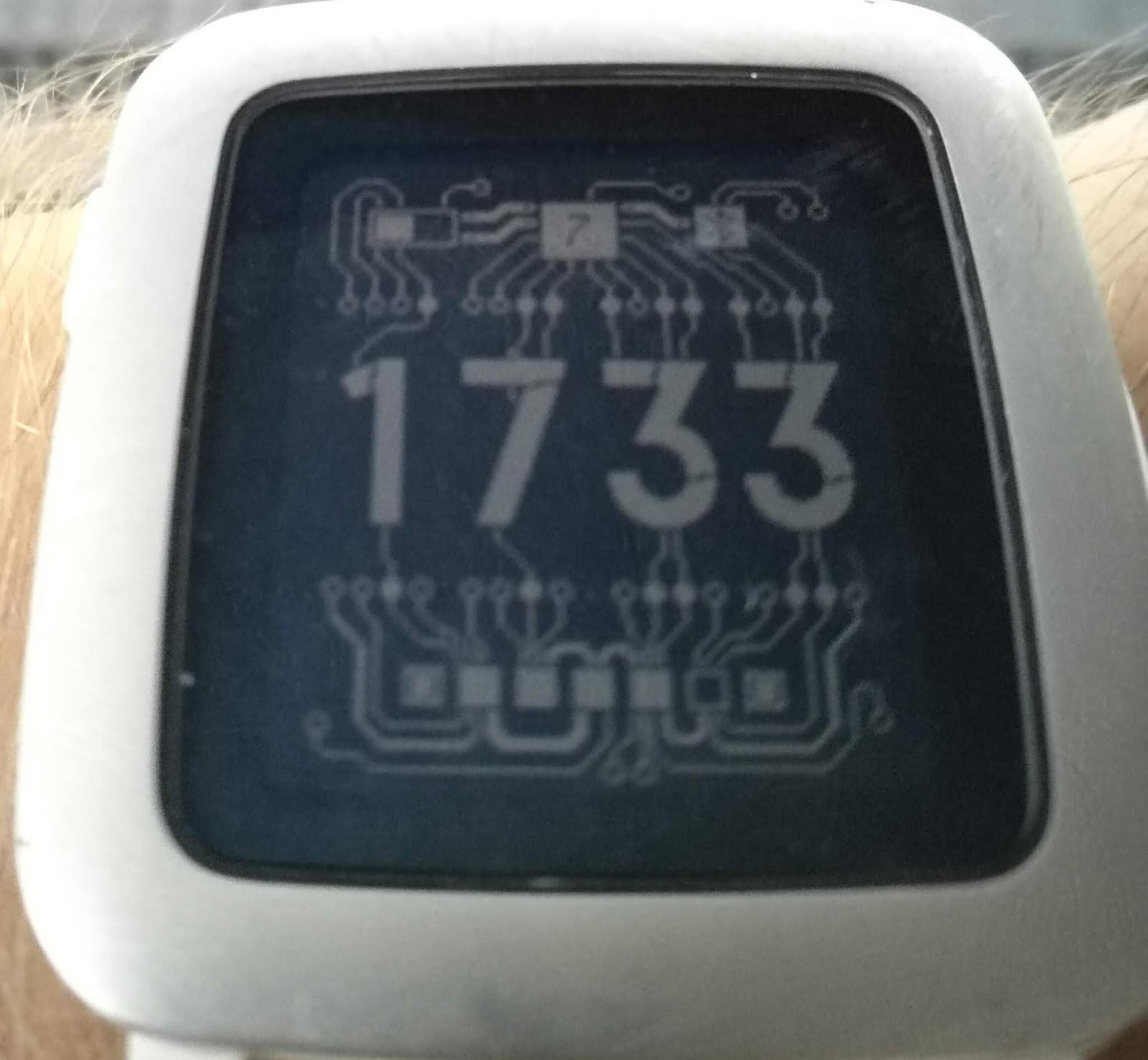 Kurzschlussblog Schmartwatch 07 Erstes Watchface 7 Segment Circuit Die Gefllt Mir So Gut Dass Ich Mich Davon Inspirieren Lie Und Fr Meine Eine Entworfen Habe