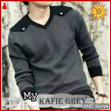 AND169 Sweater Pria Kafie Grey Murah BMGShop