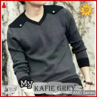 AND169 Sweater Pria Kafie Grey Murah BMGShop