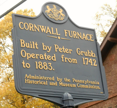 Cornwall Furnace Historical Marker in Cornwall Pennsylvania