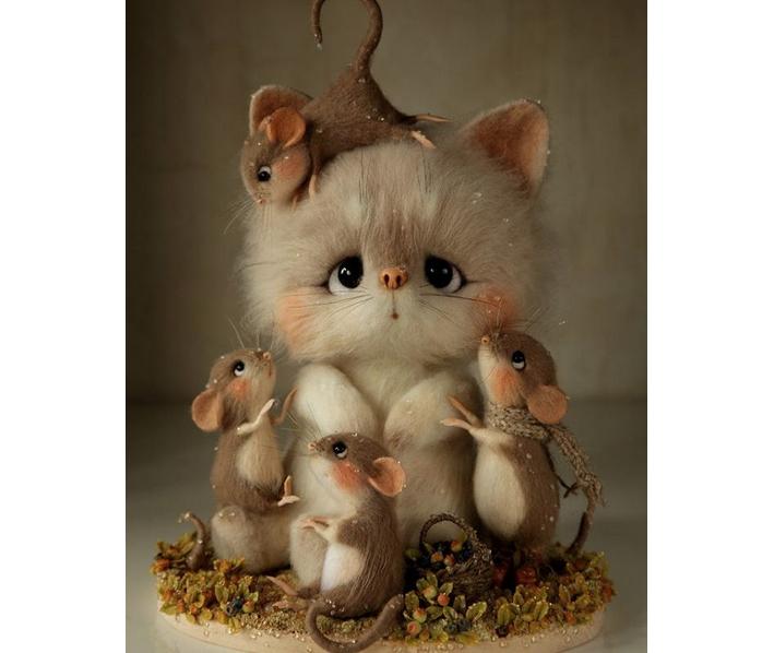 figura gato raton