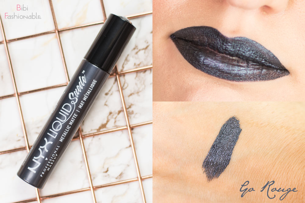 NYX Liquid Suede Metallic Matte Creme Lipstick LSCL40 Go Rouge inkl Swatches
