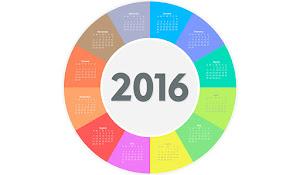 Türkçe ve Yabancı 2016 Takvimler