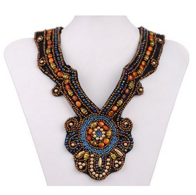 bohemian necklace under $15, beaded bohemian bib necklace