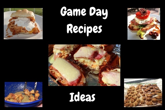 here is a round up of recipe ides for any game day, party, event, get together or holiday of appetizers and fun food recipes and how to make them