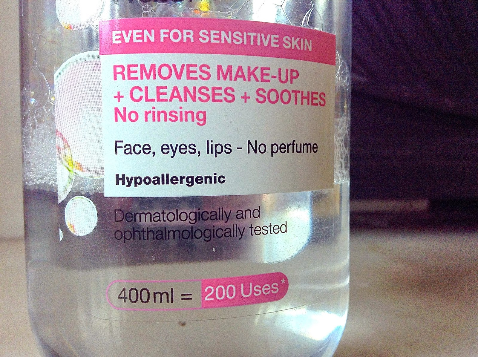 garnier micellar water review