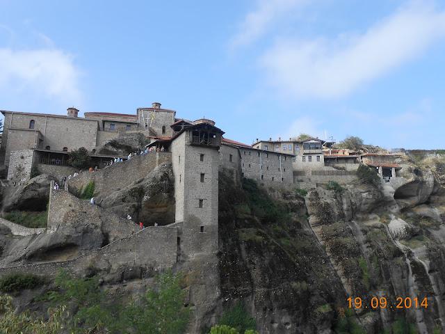 Meteora Monastery built into cliff face