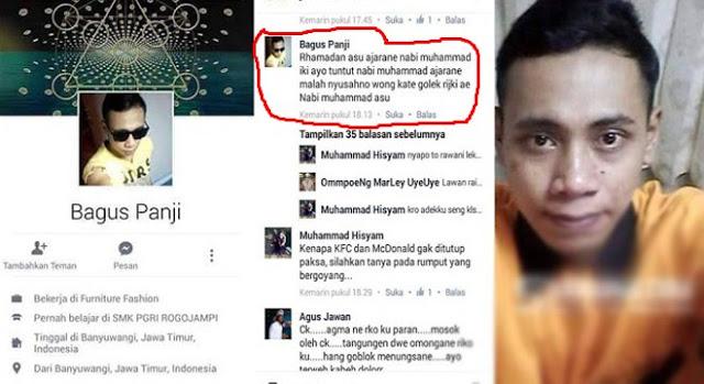 Pengina Rasulullah di Facebook Ini Diganjar 4 Tahun Penjara dan Denda 10 Juta