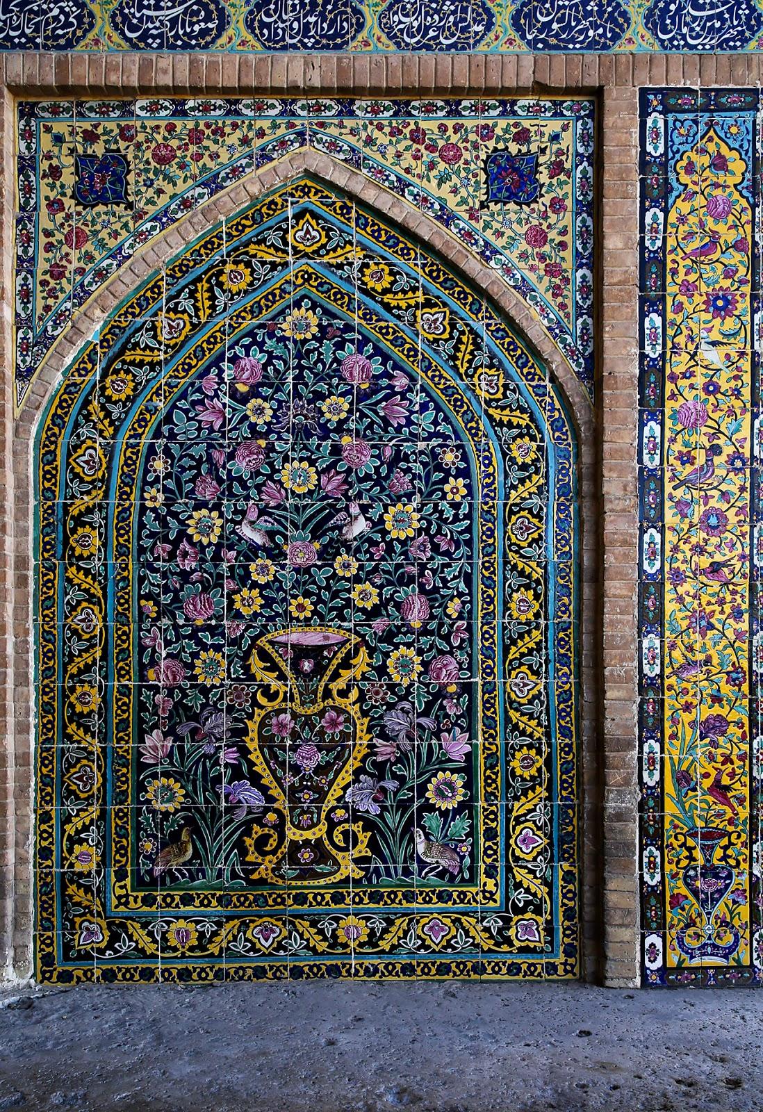 meczet Agha Bozorg, Kaszan,Iran,mozaika
