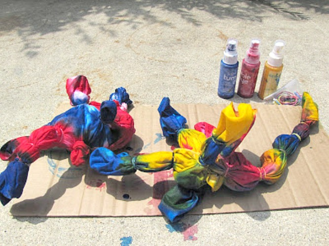 summer tie dye tshirt activity