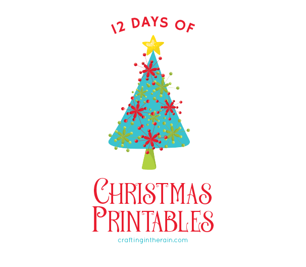 photograph relating to 12 Days of Christmas Printable known as 12 Times of Xmas Printables - Composing inside the Rain