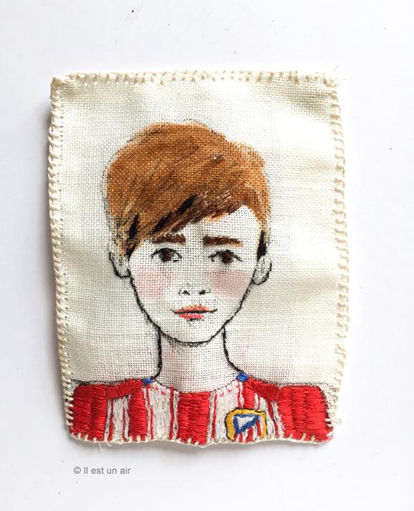 Portrait brodé - garçon de 12 ans