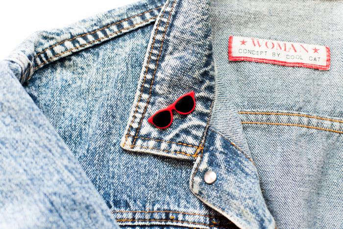 vintage red brooch