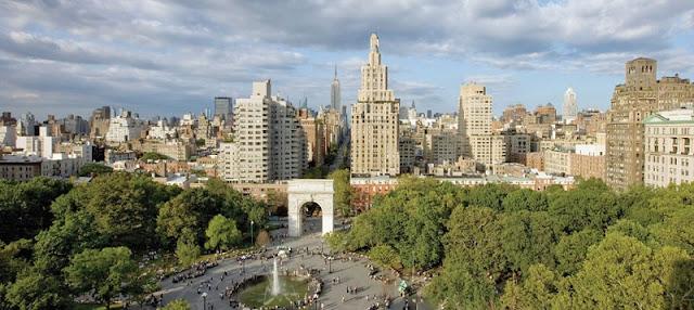 Parque Washington Square Park em Nova York