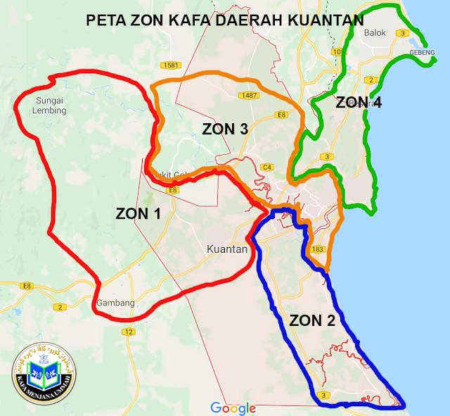 PETA ZON 3 KUANTAN