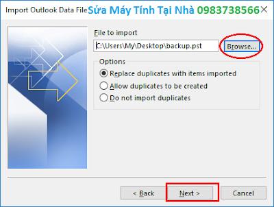 Phục hồi dữ liệu Outlook 2016 - H10