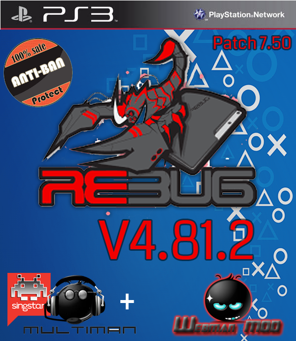 Download CFW Rebug 4 81 2 + multiman Ps4 Exploit Hack, Apps