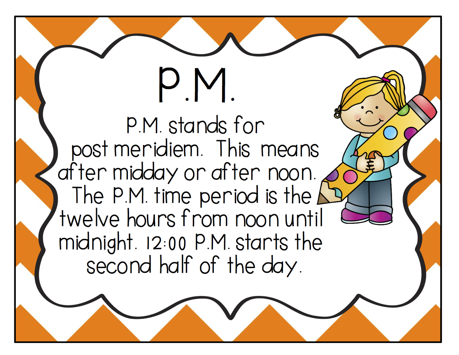 Crazy About Second Grade: A Little Telling Time {A.M./P.M ...