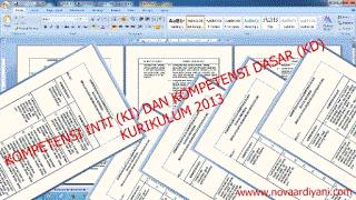 Kompetensi Inti (KI) dan Kompetensi Dasar (KD) Kurikulum 2013