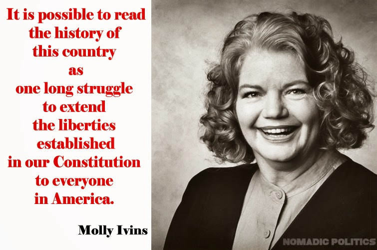 Image: Molly Ivins w Quote