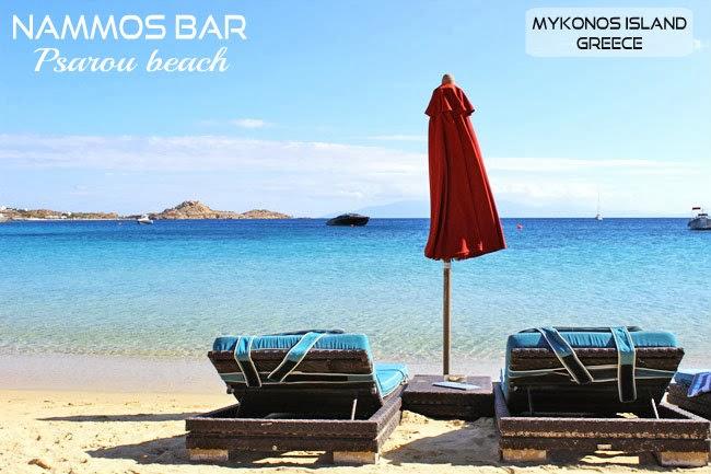 Psarou beach Mykonos island