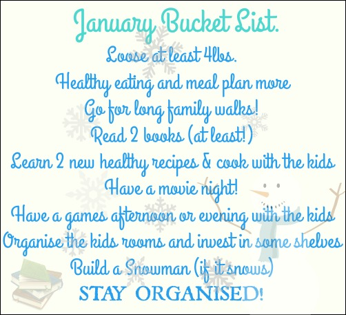 January and winter bucket list. New year goals