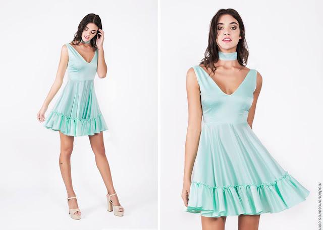 Vestidos de fiesta cortos 2017. Moda mujer verano 2017. Vestidos cortos 2017.