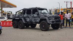 Ibrahim Mahama spotted in Mercedes-Benz G63 AMG 6×6