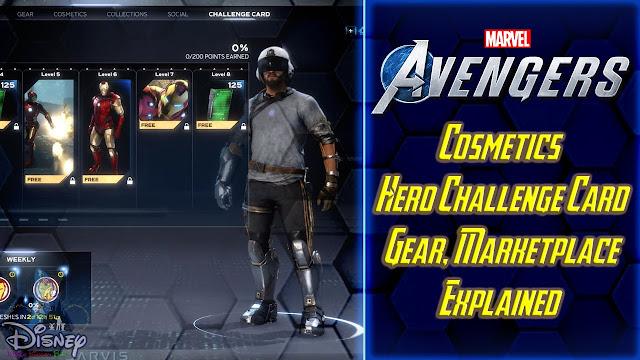 Marvel's Avengers Cosmetics Details Explained Hero Challenge Card