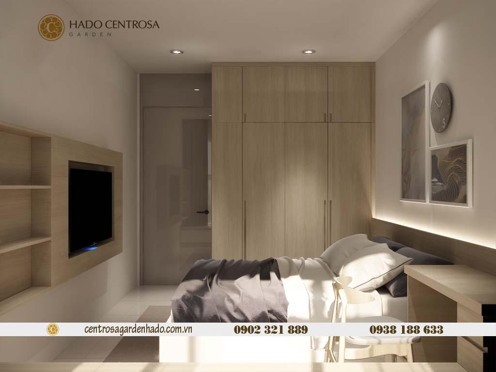 Căn hộ 1 phòng ngủ cho thuê HaDo Centrosa tầng cao | ảnh 3D 5