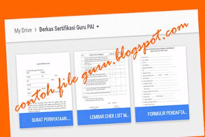 Dokumen Penting Berkas Sertifikasi Guru PAI 2016