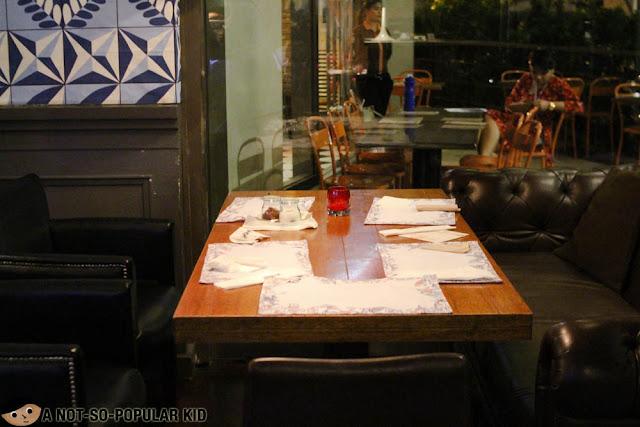 Dining area of Rambla, Rockwell, Makati