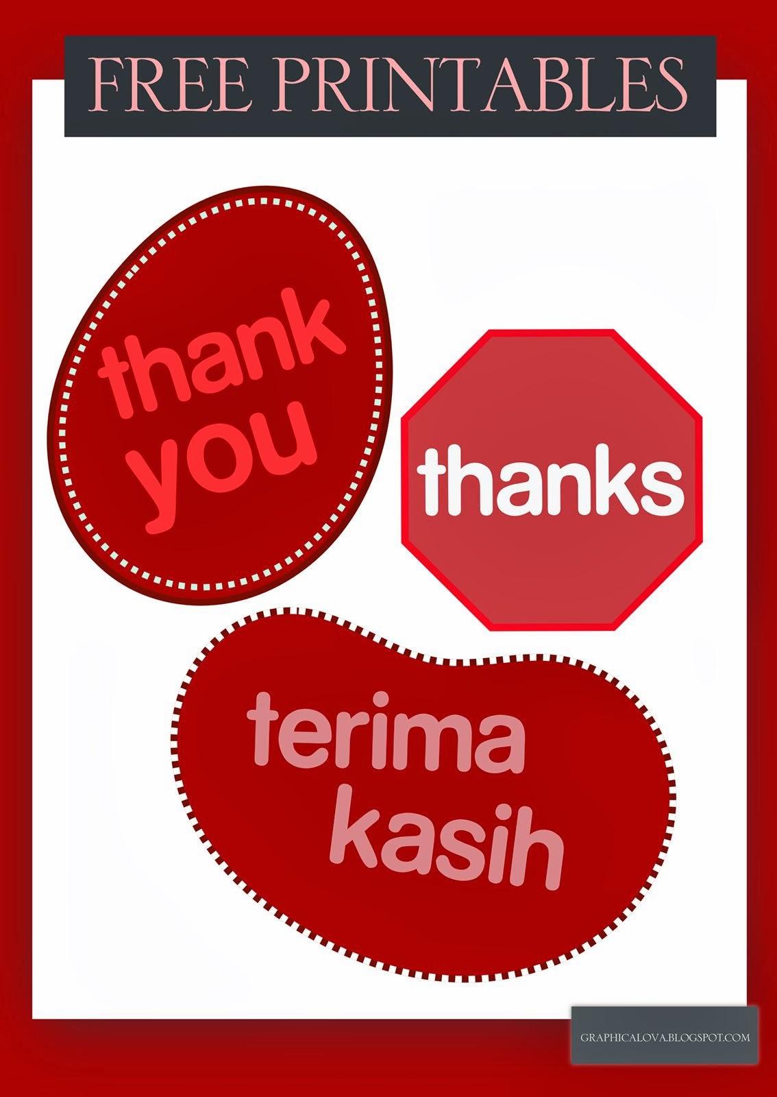 free printable thankyou card