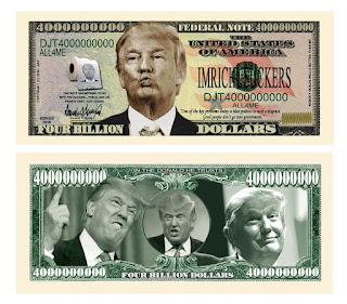 Donald Trump Dump Trump Four Billion Dollar Bill