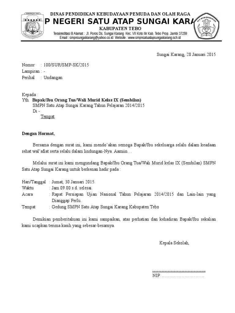 contoh surat undangan rapat doc