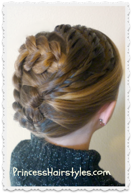 pretty holiday updo tutorial