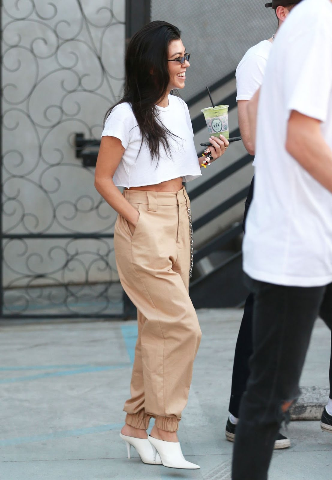 Photos of Kourtney Kardashian Leaves Alfred Tea Room in West Hollywood