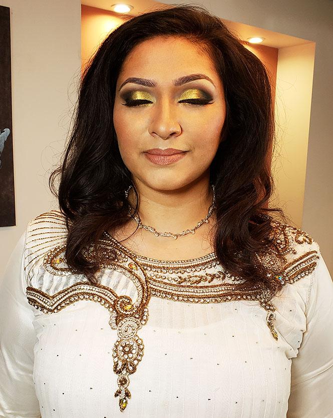 Indian Bridal Makeup Gold Smokey Eye Makeup By Renren