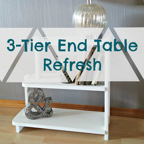 Before and After - 3-Tier End Table Makeover
