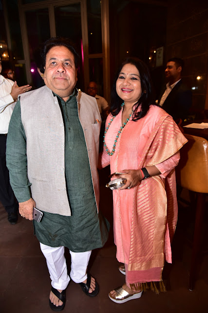 Chairman of Indian Premier League, Rajeev Shukla and Anuradha Shukla