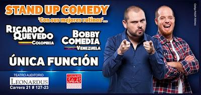 Ricardo Quevedo por Colombia y Bobby Comedia desde Venezuela