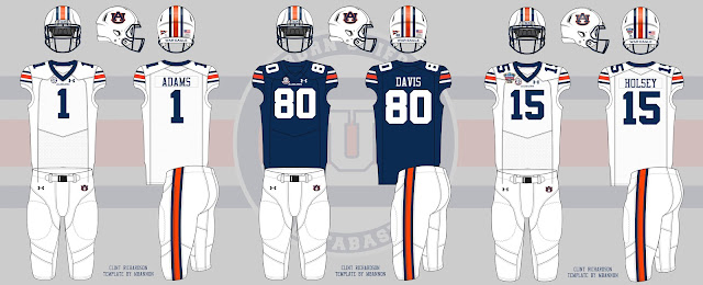 Auburn football 2016 2017 uniforms