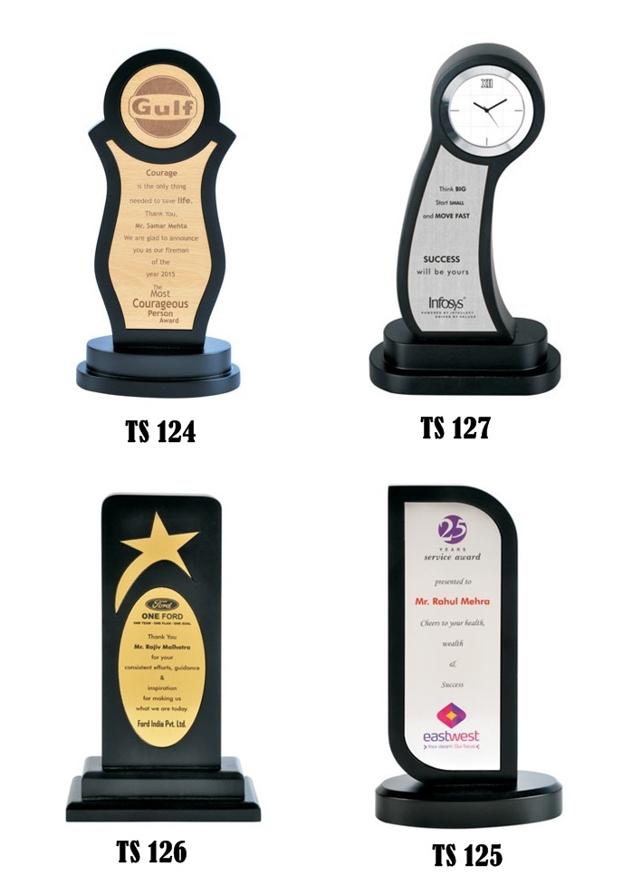 Manufacturers And Supplier Of Promotional Wooden Trophy Corporate With Logo Printing In India