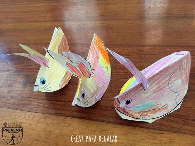 manualidades niños conejos papel