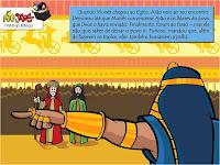 Resultado de imagem para historinha Moisés e arão com faraó