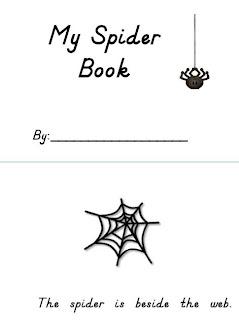 Love For Kindergarten: Spider Rings To Practice Position Words