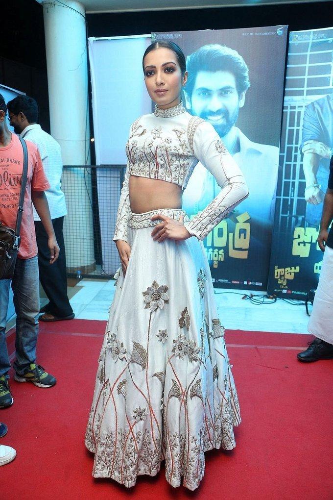 Catherine Tresa In White Dress From Nene Raju Nene Mantri
