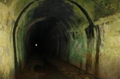 Didalam terowongan Binangun